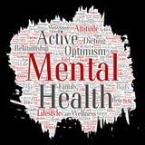 Vector mental health paint brush paper word Stock Photo