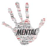 Vector mental health or positive thinking hand print Stock Photography