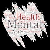 Vector mental health positive thinking paint brush Stock Photos