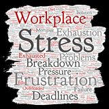 Vector mental stress at workplace or job pressure Stock Photo