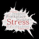 Vector mental stress at workplace or job pressure Stock Photography