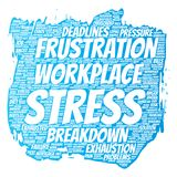 Vector mental stress at workplace or job pressure Royalty Free Stock Photo