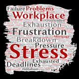 Vector mental stress at workplace or job Stock Images