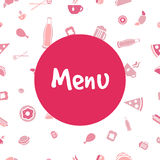 Vector menu cover design with food icons Royalty Free Stock Photography