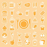 vector menu food and drink icons set Stock Images