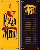Vector menu for pizzeria Royalty Free Stock Image