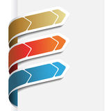 Vector menupijlen op het Witboek Stock Foto