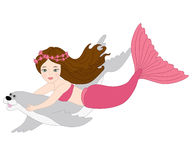 Vector Mermaid with Seal, Mermaid  Clipart Royalty Free Stock Photography