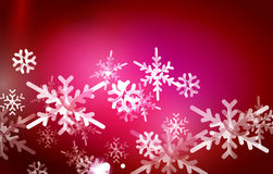 Vector Merry Christmas abstract background. Snowflakes in the air. Color background for your message Stock Photography