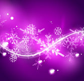 Vector Merry Christmas abstract background. Snowflakes in the air. Color background for your message Royalty Free Stock Photo