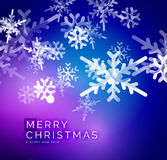 Vector Merry Christmas abstract background. Snowflakes in the air. Color background for your message Stock Photo