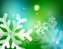 Vector Merry Christmas abstract background. Snowflakes in the air. Color background for your message Stock Photos