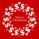 Vector Merry Christmas Background Royalty Free Stock Photo