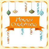 Vector Merry Christmas background in retro style Stock Image