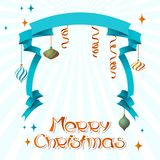 Vector Merry Christmas background in retro style Royalty Free Stock Image