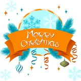 Vector Merry Christmas background in retro style Stock Photography