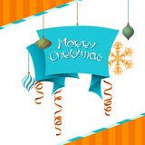 Vector Merry Christmas background in retro style Stock Photo