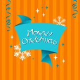 Vector Merry Christmas background in retro style Royalty Free Stock Images
