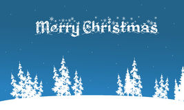 Vector of merry christmas backgrounds. On blue backgrounds Stock Photography