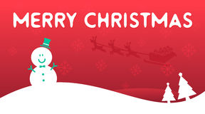 Vector : Merry Christmas banner background Royalty Free Stock Photography