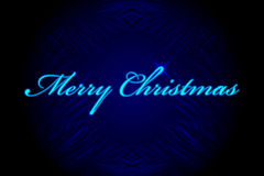 Merry Christmas background. Vector Merry Christmas blue background Stock Photography