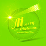 Vector Merry Christmas button badge Royalty Free Stock Photography