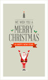 Vector Merry Christmas card Stock Image