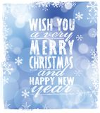 Vector Merry Christmas card Royalty Free Stock Image