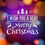 Vector Merry Christmas card poster design. Invitation template for xmas holiday. Greeting decoration.  Stock Photos