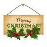 Vector. Merry Christmas. Christmas wooden Stock Photos