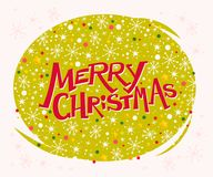 Vector merry christmas congratulation design with text message and colorful backdrop. Stock Photography