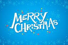Vector merry christmas congratulation design with text message and colorful backdrop. Stock Photo