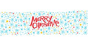 Vector merry christmas congratulation design with text message and colorful backdrop. Stock Images