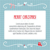 Vector Merry Christmas greeting card background design template Stock Photos