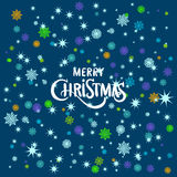 Vector merry Christmas greeting card blue 2016. Art Royalty Free Stock Images