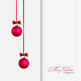 Vector Merry Christmas greeting card Royalty Free Stock Photo