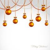 Vector Merry Christmas greeting card Stock Photos
