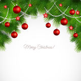 Vector Merry Christmas greeting card Stock Images