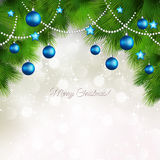 Vector Merry Christmas greeting card Stock Photos