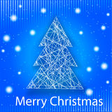Vector merry Christmas greeting card Stock Photography