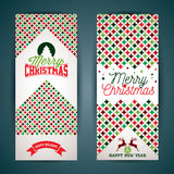 Vector Merry Christmas greeting card illustration with typographic design and abstract color texture pattern on clean background. Stock Image