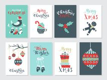 Christmas cards set Stock Images