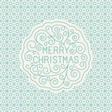 Vector merry christmas hand lettering Stock Photos