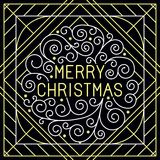 Vector merry christmas hand lettering Royalty Free Stock Photo