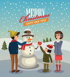 Vector merry christmas Royalty Free Stock Images