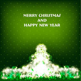 Vector Merry Christmas and Happy New Year card des. Vector Merry Christmas and Happy New Year greeting card Royalty Free Stock Photos