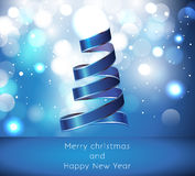 Vector Merry Christmas and Happy New Year card des Stock Images