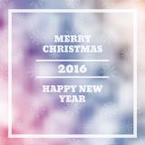 Vector Merry Christmas and Happy New Year card design blur eps 1. 0 Stock Image