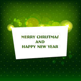 Vector Merry Christmas and Happy New Year card des. Vector Merry Christmas and Happy New Year greeting card Stock Photography