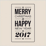 Vector Merry Christmas and Happy New Year card design. Print Royalty Free Stock Images